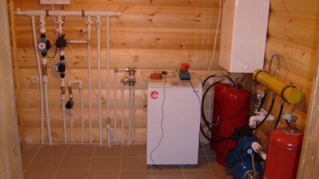Отопление газовое в деревянном доме своими руками